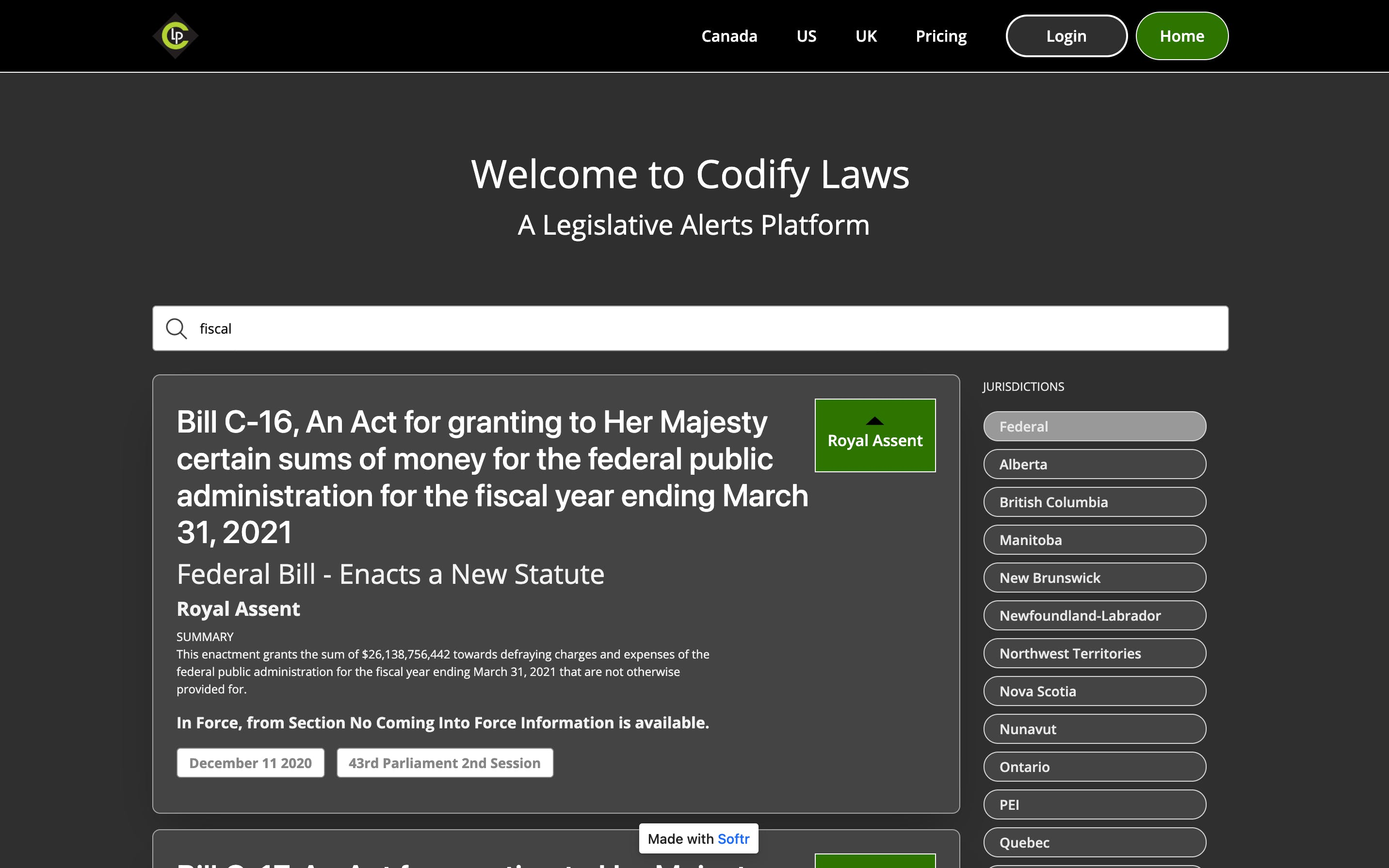 Codify Laws