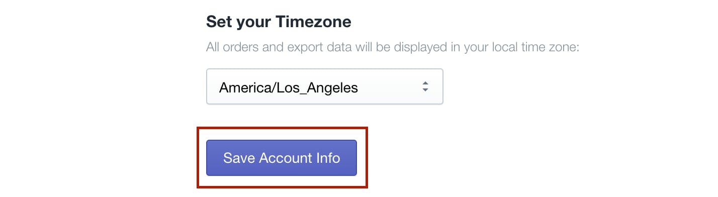 save account info