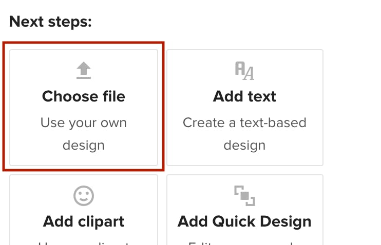choose file Printful