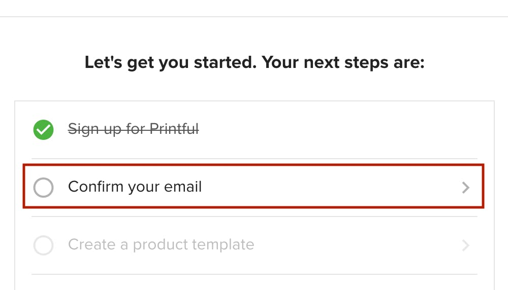 Printful confirm your email