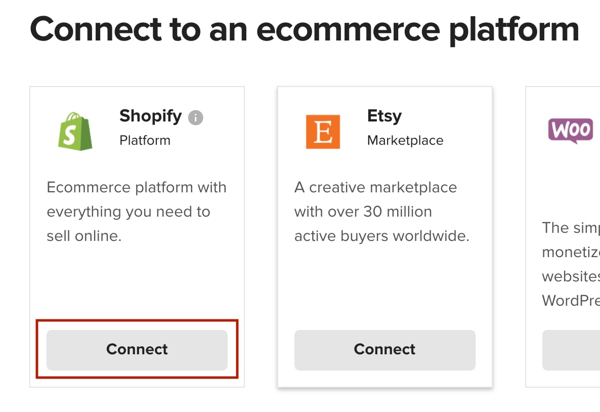 Connect Shopify