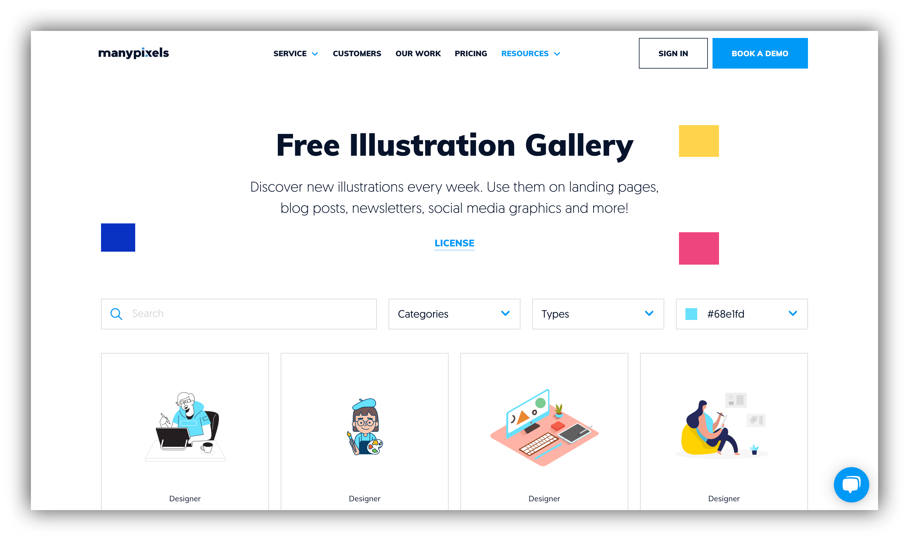 manypixels website