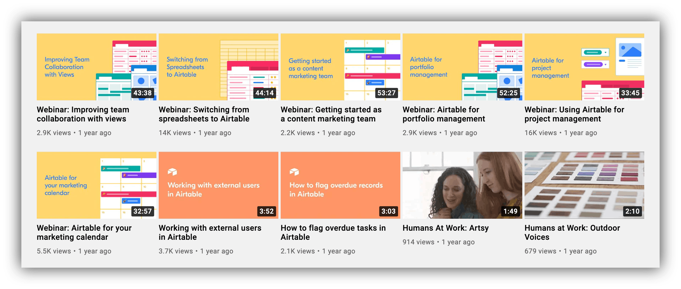 vimeo thumbnails example