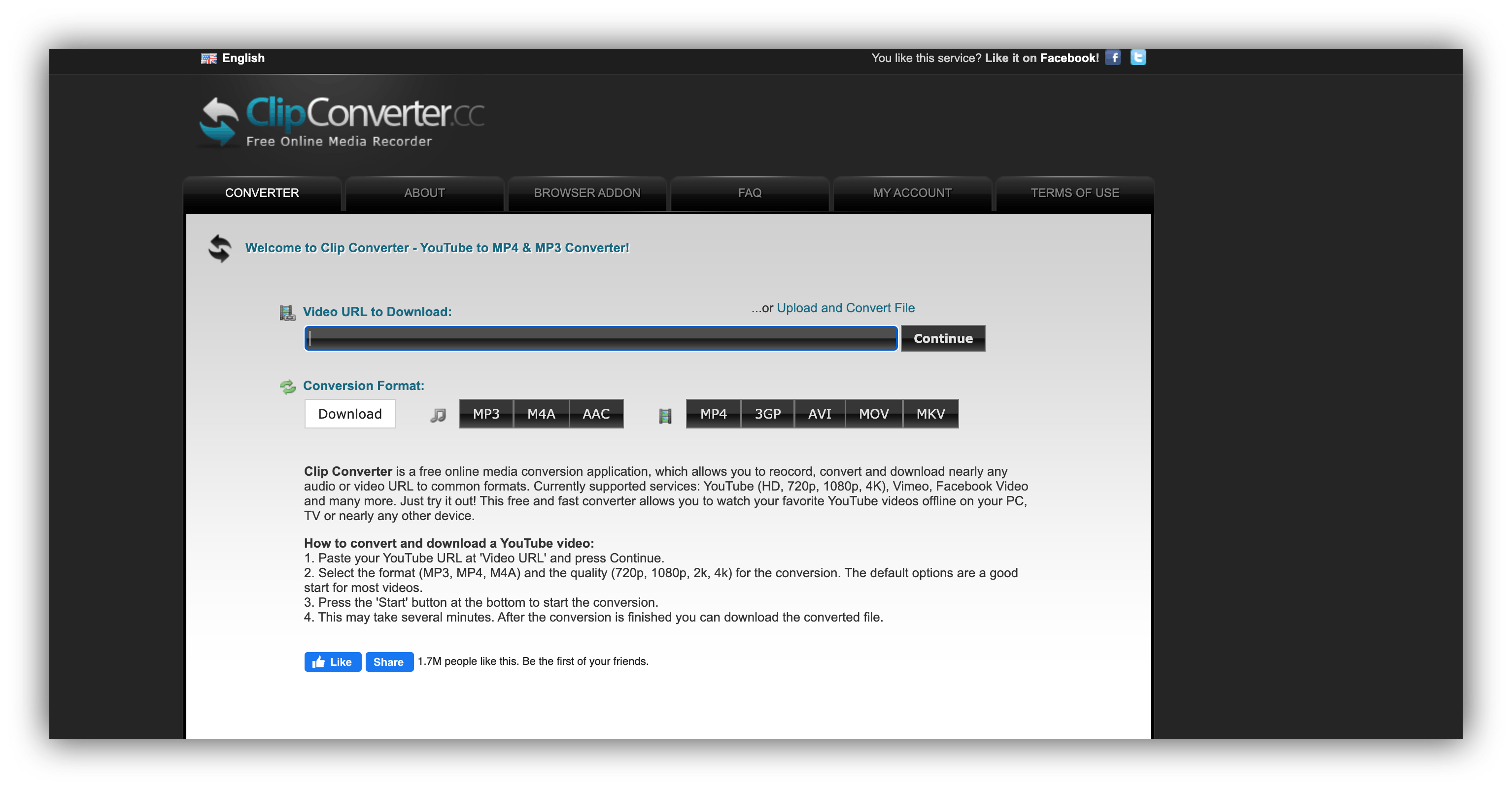 clipconverter homepage