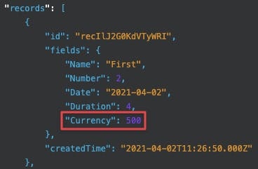 regular api currency