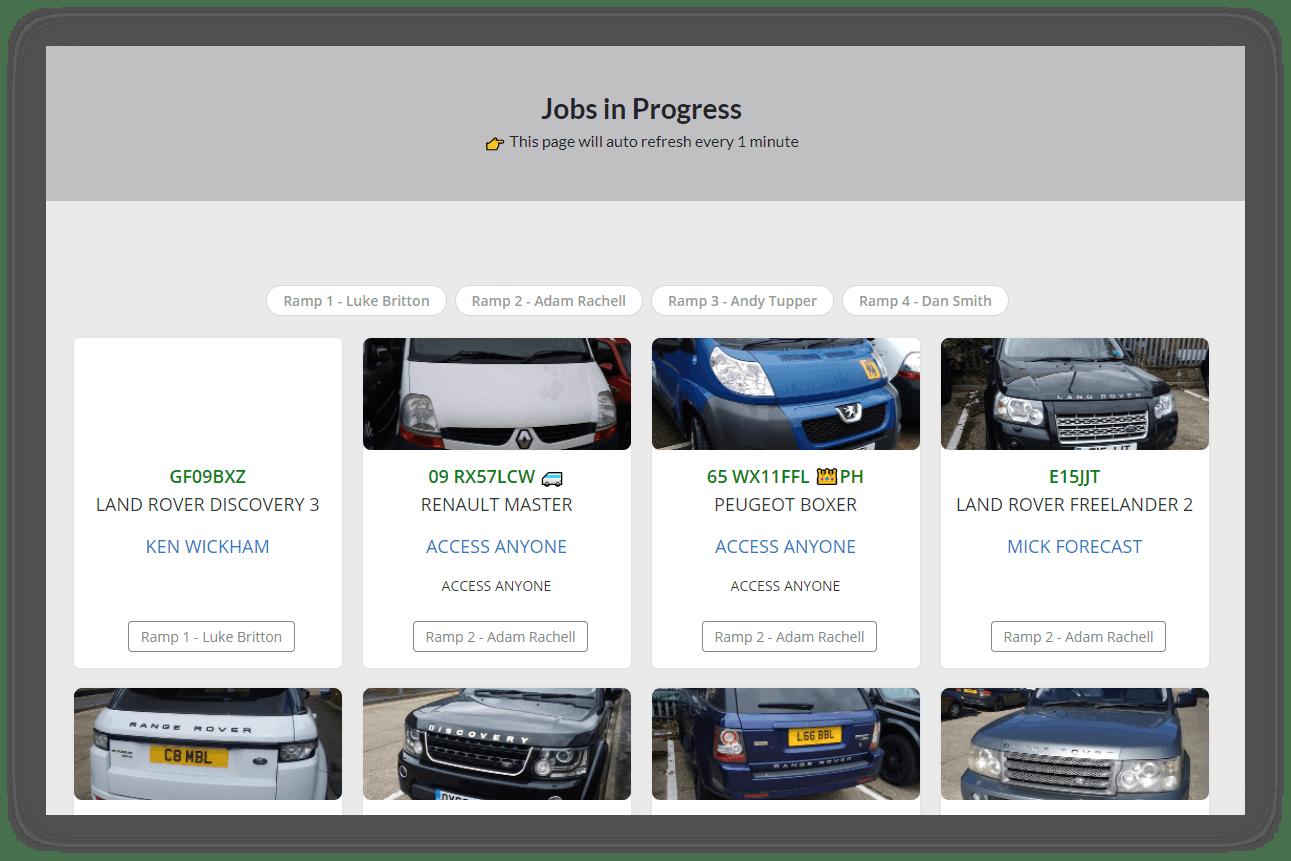 employee portal jobs in progress