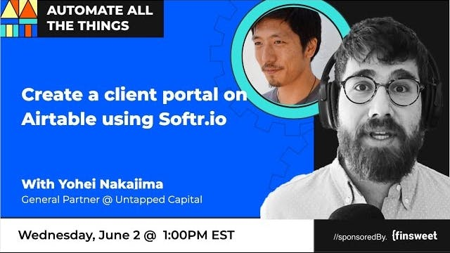 create a client portal on Airtable