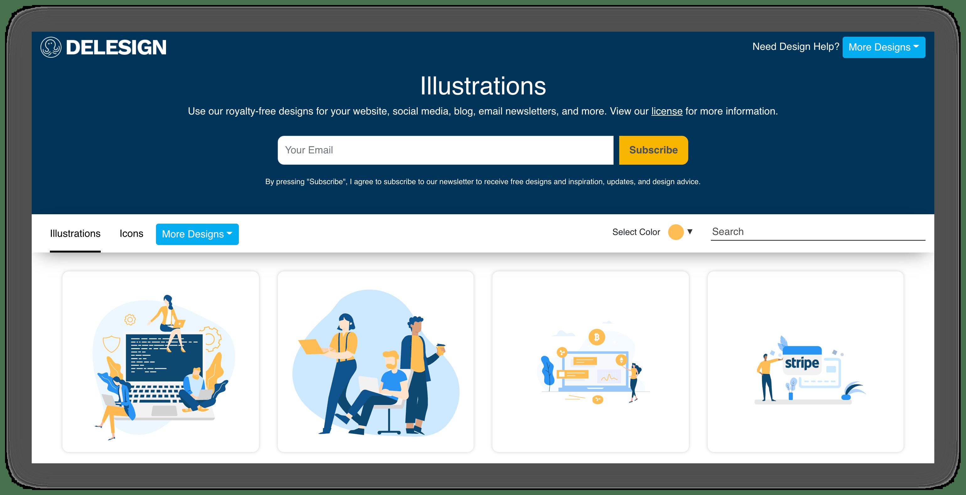delesign illustrations website