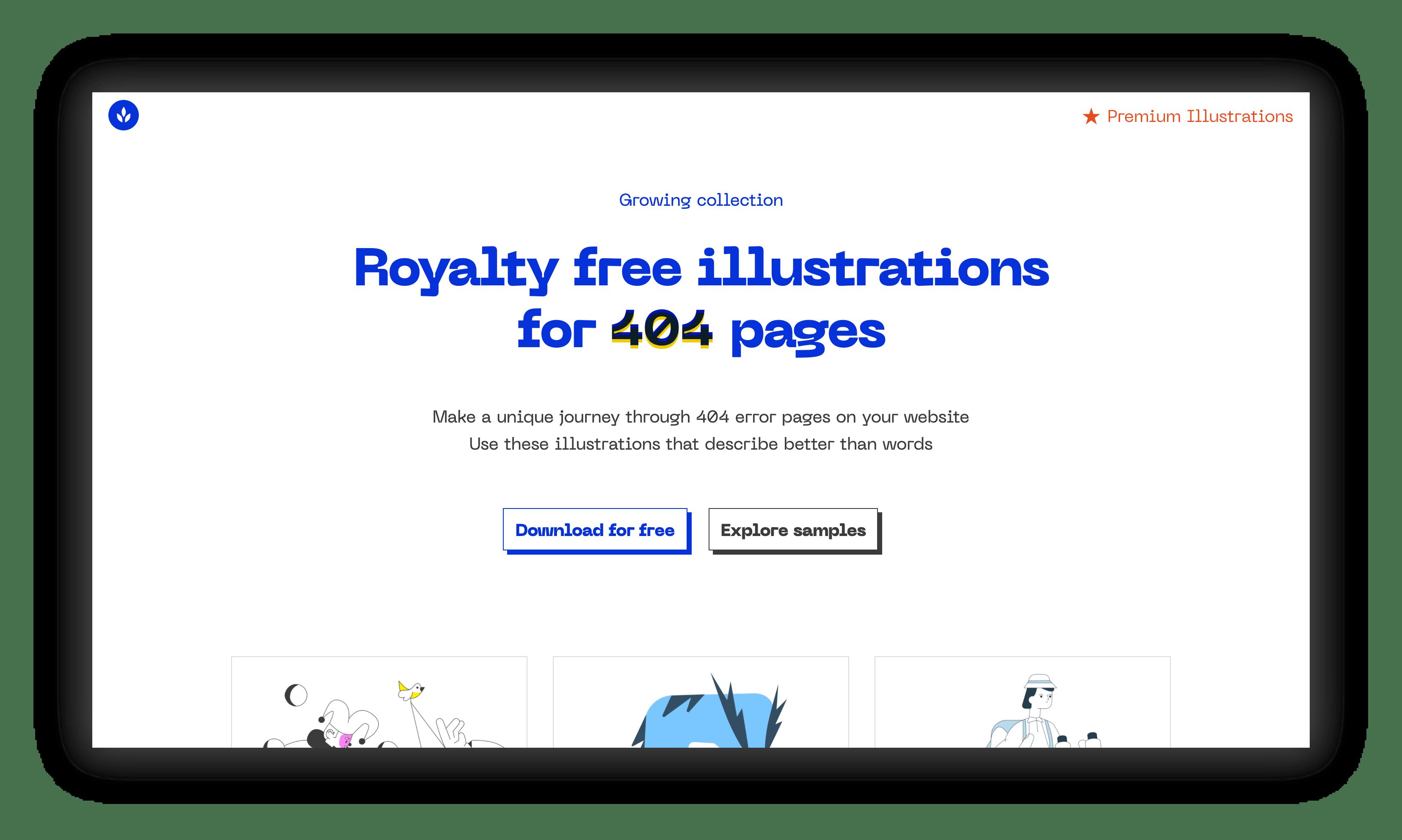 404 illustrations website