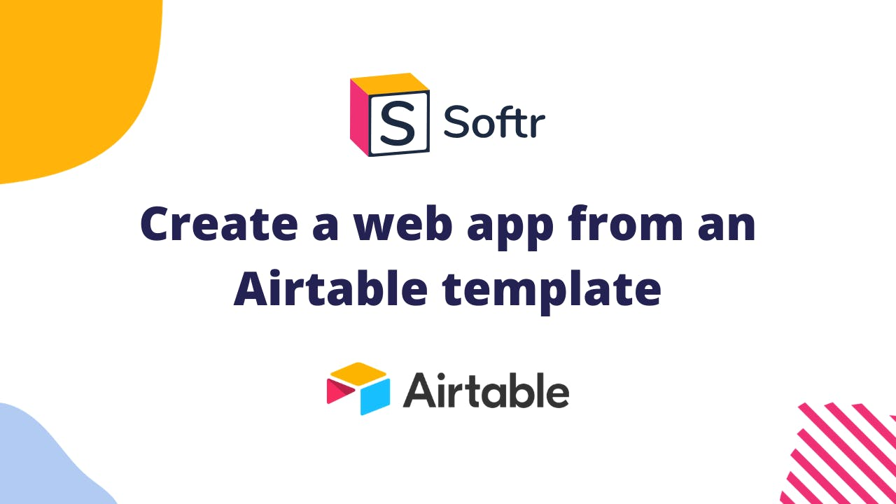 web app from airtable template