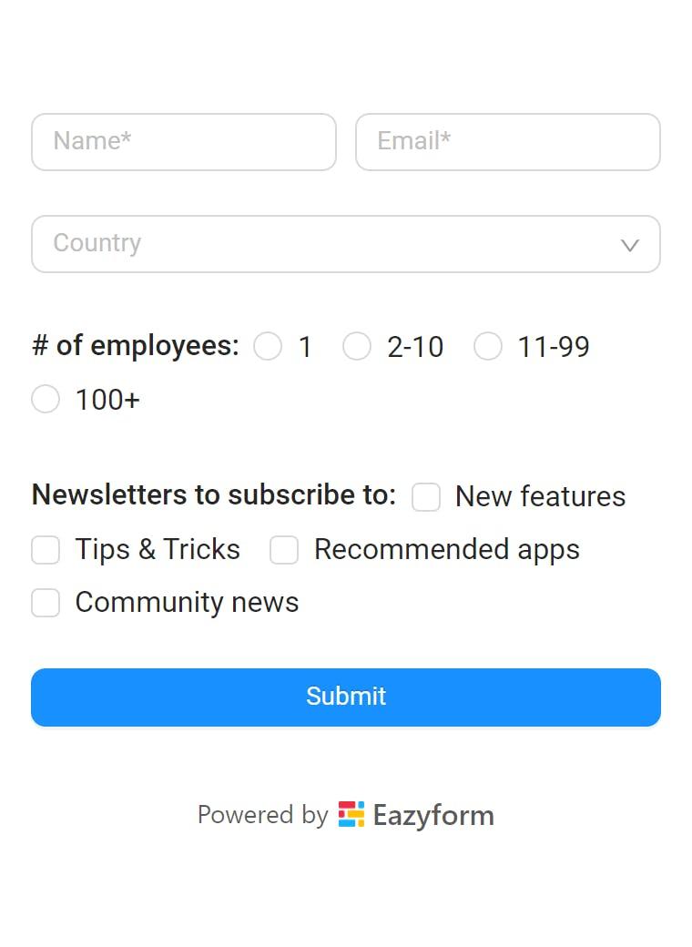 Eazyform app