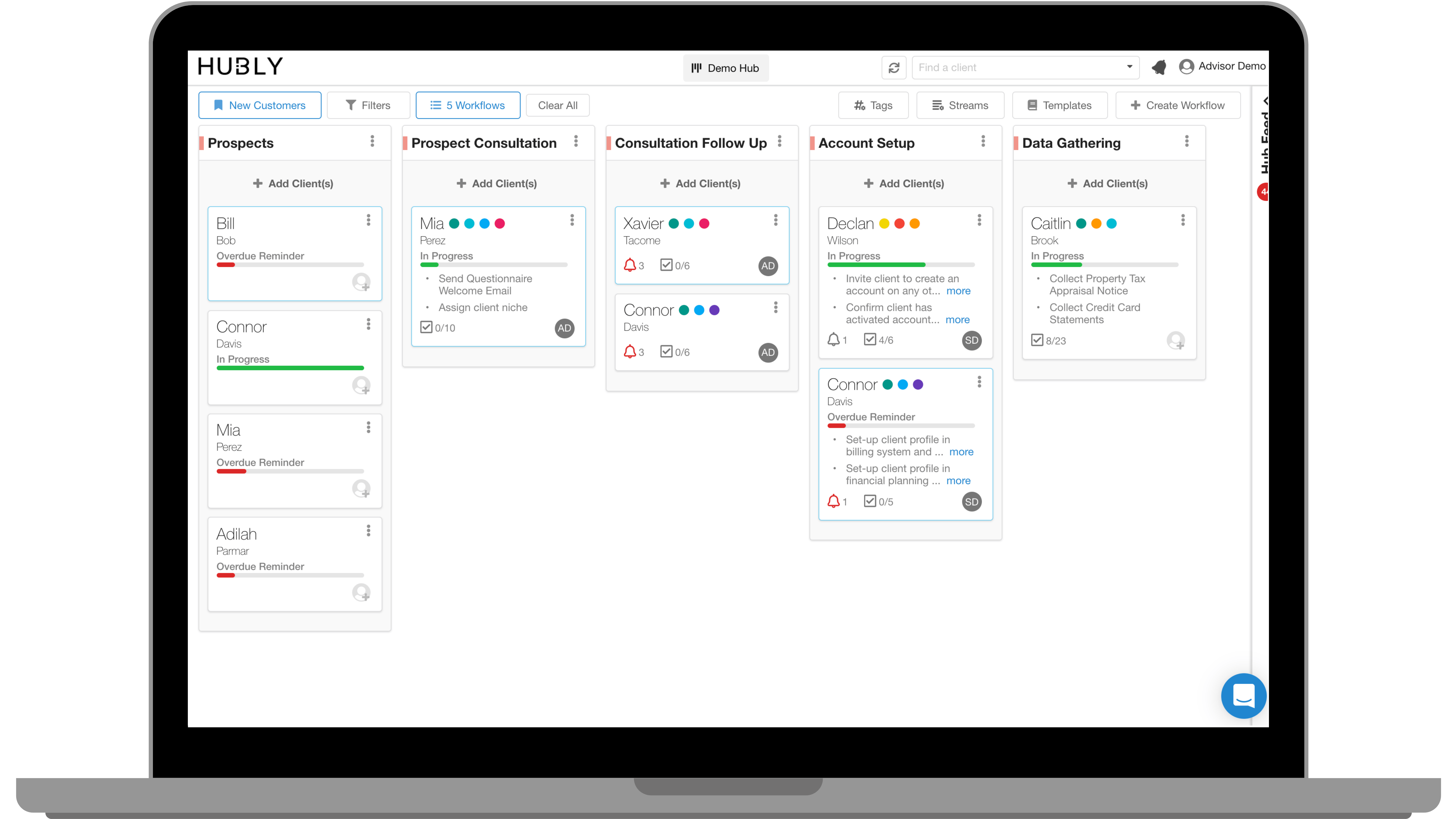 Introducing Hubly Workflows Built For Financial Advisors