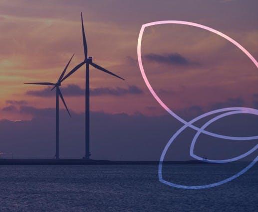 image illustrative, éolienne et ailes de papillon efyb