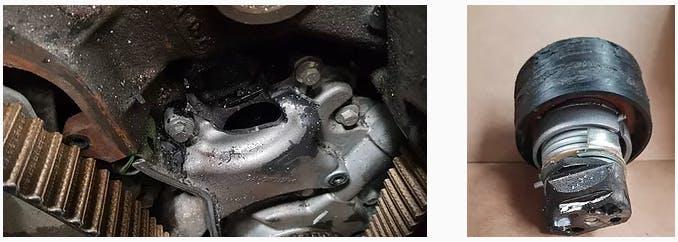 Damaged Oil Pump